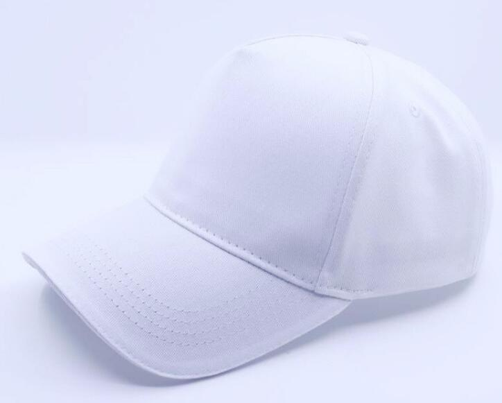 5 panel twill cotton cap with embroidered eyelets